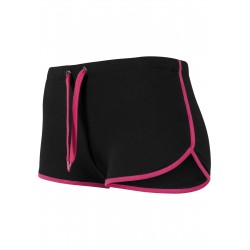 BLACK/FUCHSIA SHORTS